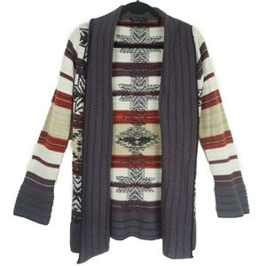 BCBG MAXAZRIA Brown Open Front Cardigan Small